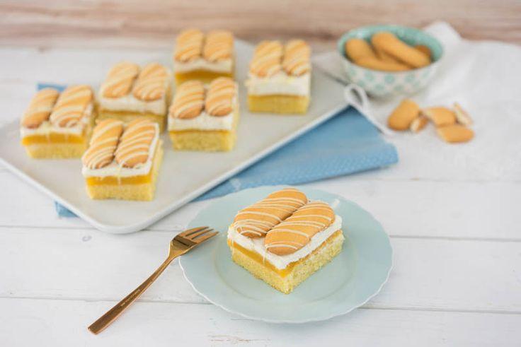Aprikosen-Vanillecreme-Schnitte | Backen mit Globus & Sallys Welt #30