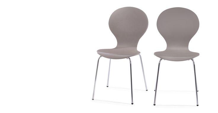 2 x Kitsch Stühle in Aschgrau | made.com