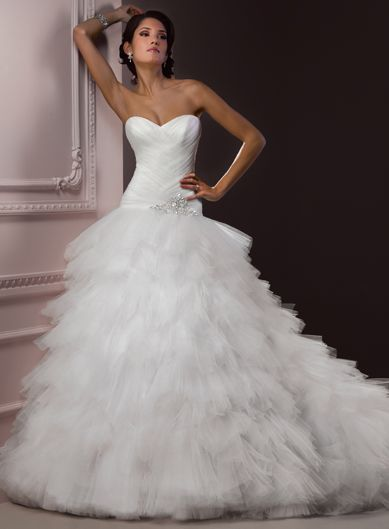 Ball Gown Sleeveless Tulle Floor-length bridal gown