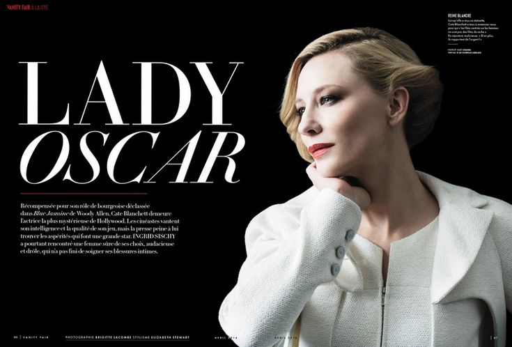 Cate Blanchett in a photo shoot by Brigitte Lacombe for Vanity Fair France, April 2014