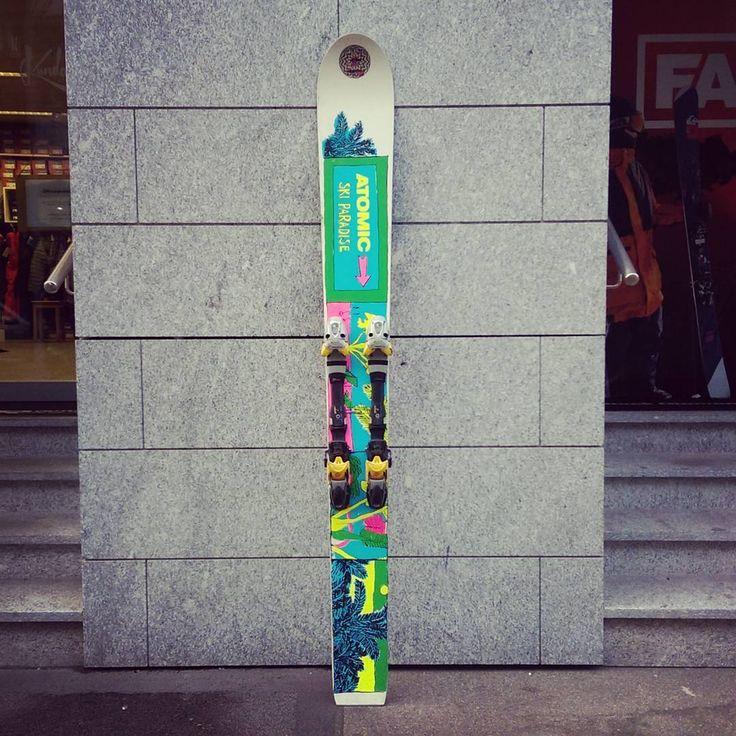 """Mi piace"": 419, commenti: 24 - Kundalini (@kundalini_zurich) su Instagram: ""Thou shalt not ski on one ski only. Or should you? #monoski #atomicski"""