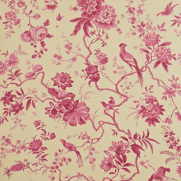 Pillemont Toile Wallpaper | Pemberley Wallpaper Collection | Sanderson Wallpaper