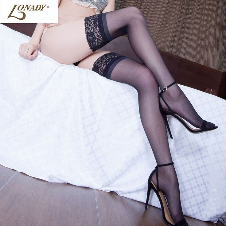 2017 Sexy Stockings Medias Knee  Socks Women Thigh Highs Medias Stocking Female Pantyhose Lace Top Knee High Lingerie Long Socks