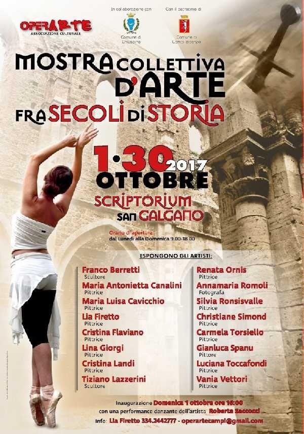 L`inaugurazione della mostra domenica 1 ottobre ore 16:00 alla presenza di TOSCANA TVè stata arricchita da una performance di danza dell`artista,ROBERTA SACCOCCIche ha i