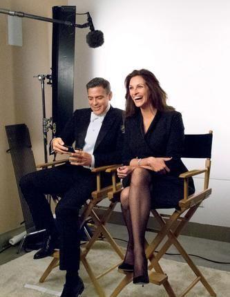 Sneak Peek: The 2014 Hollywood Issue Cover | Vanity Fair Julia Roberts and George Clooney