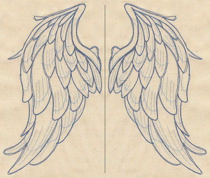 Wings from Above (Wing Pair) | Urban Threads: Unique and Awesome Embroidery Designs