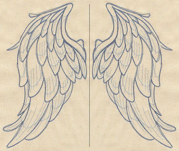Крылья сверху (Wing Pair) | Городская Тема: Уникальный и удивительный образцы вышивки