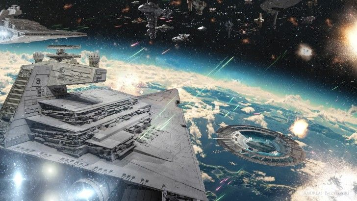 Rogue One Star Wars Movie Space Battle Wallpaper Search By Muzli