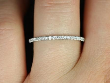 PLATINUM 1.8mm FULL Eternity Band Micro Pave F VS2 0.48ctw Diamond Ring/ Wedding Ring/ Wedding Band/Anniversary Band on Etsy, $789.00