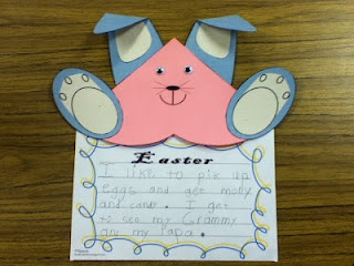 FREE Easter writing activity: Easter Writing, Arts Crafts Handprint, Easter United, 5 Wkshp, Spring Bunnies Activities, Classroom Easter, Easter Kindergarten, Writing Activities Homeschool, Easter Activities