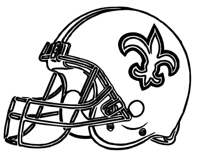 Helmet saints new orleans coloring pages football for Nfl helmets coloring pages