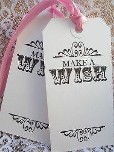 10 Make s Wish Wedding Favour Tag White Luggage Label