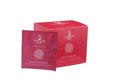 Rosa d'Inverno, #tè verde, #tè nero  e boccioli di rosa, nel pratico #filtrofoglia.