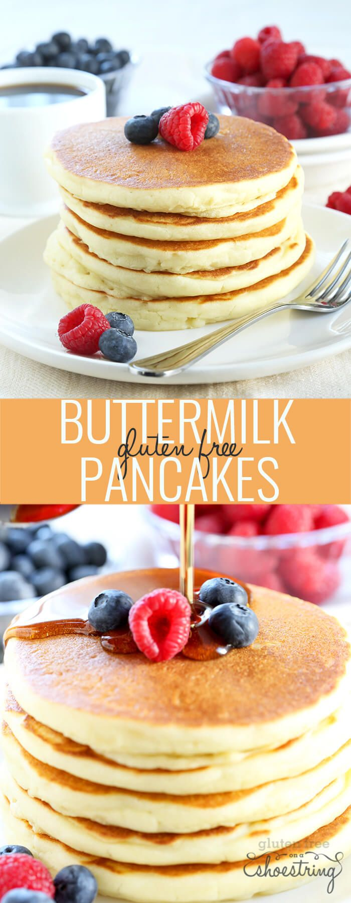 This is the classic gluten free pancake recipe you've been looking for. Perfectly light and fluffy buttermilk pancakes that you can make ahead and freeze!