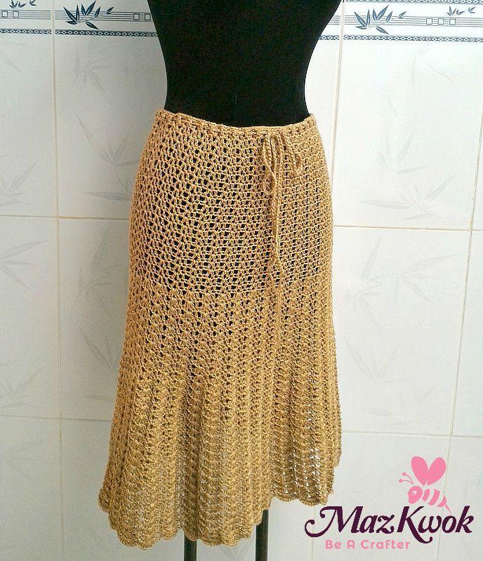 Crochet convertible dress / skirt - Maz Kwok's Designs