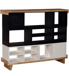 Minerva Book Shelf in Black and White Finish by Woodsworth