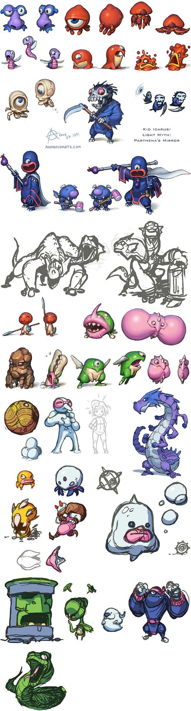 kid_icarus_monsters2...@keith_lie采集到怪兽(826图)_花瓣插画/漫画