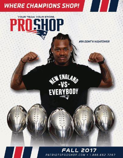 Patriots Pro Shop Catalog with Hightower