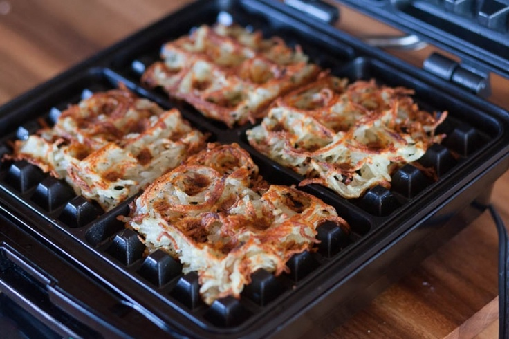 Beautiful Crispy Waffle fries . . . or you could call them hash browns. Wafflishious