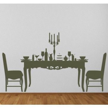 Dining Table And Chairs Table Contents Wall Stickers Wall Art Decal   Dining  Room   Home