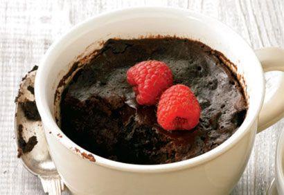 Brownies intenses dans une tasse #dessert #chocolat #brownies #mugcakes