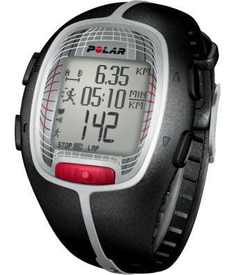 Polar RS300X Heart Rate Monitor, try to stay in aerobic zone and improve fitness.