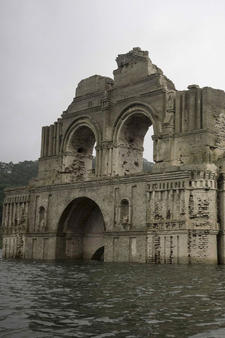 450-Year-Old Church Emerges From Reservoir As Water Levels Drop