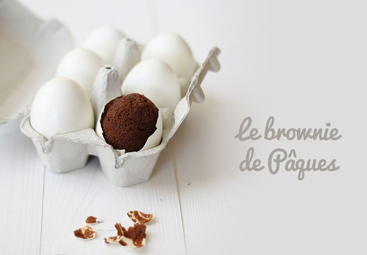 oeuf de paques brownie