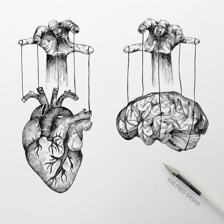Diverse Black and White Surreal Drawings