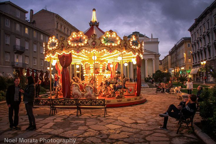 Trieste, Italy - The carrousel downtown #italy #trieste #travel