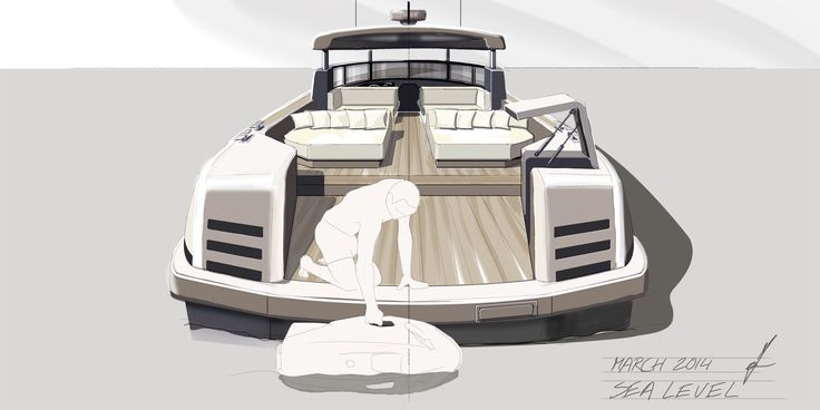 13m high speed motor yacht