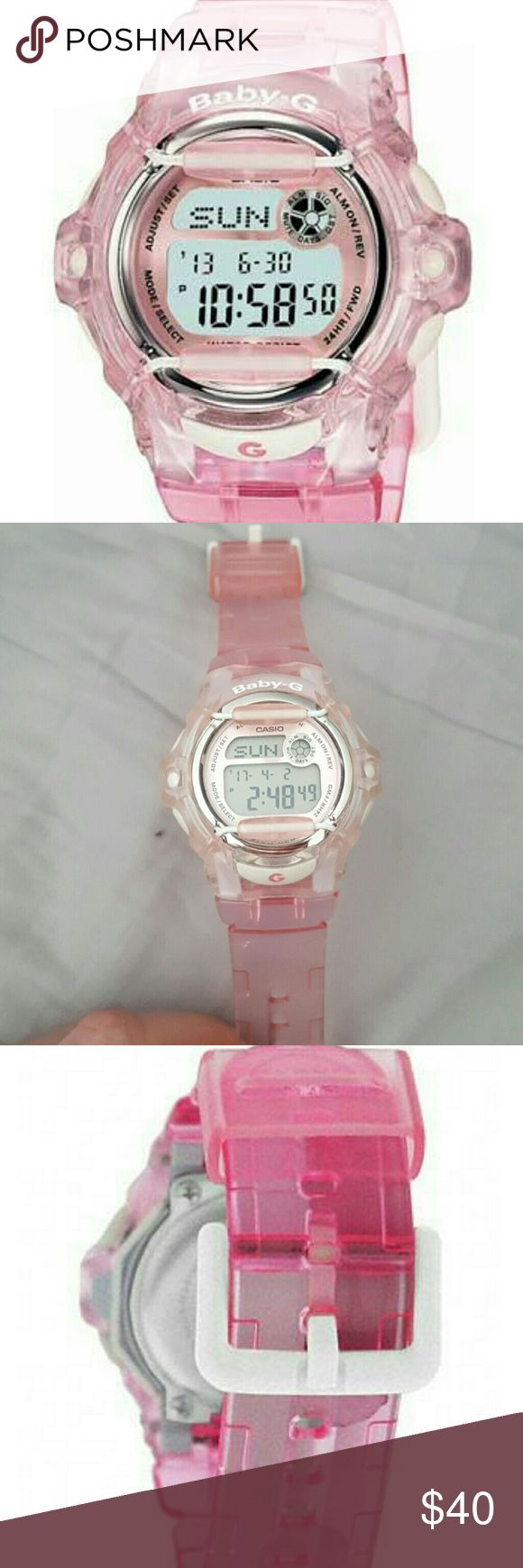 Pink Casio Baby G watch BABY G watch  perfect condition! Shock Resistant 200M Water Resistant EL Backlight with Afterglow Casio Accessories Watches