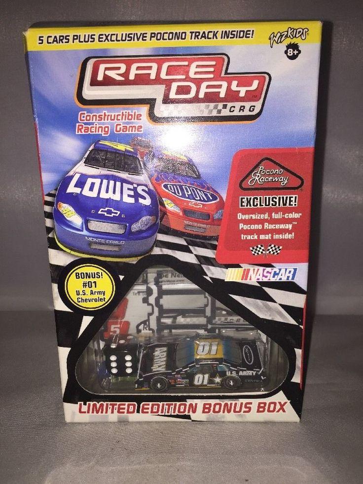 NASCAR Race Day Constructible Racing Game Ltd Edition Bonus Box Pocono Raceway #WizKids