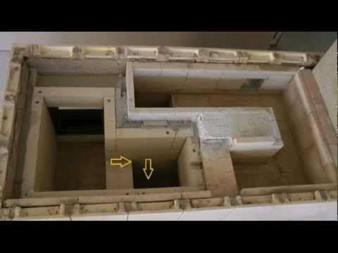 Aufbau eines Kachel - Grundofens
