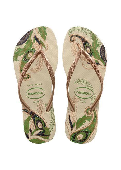 Havaianas Slim Organic Beige Flip Flops