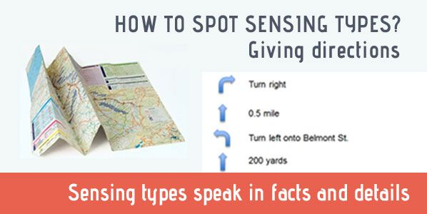 how to speak to a sensing person