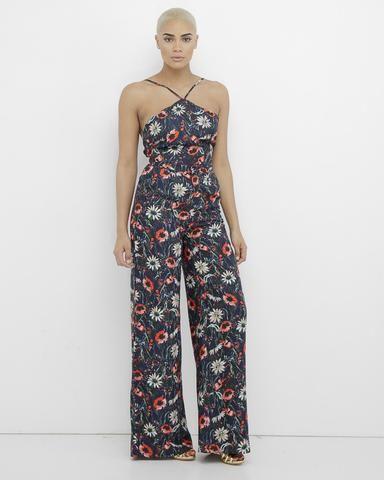 ORION Navy Floral Wide Leg Pant Set at FLYJANE | Navy Floral Pant Set | Latiste Floral Pant Suit | Spring Floral Pants Outfit | Wide Leg Pant Set | Women's Pant Set