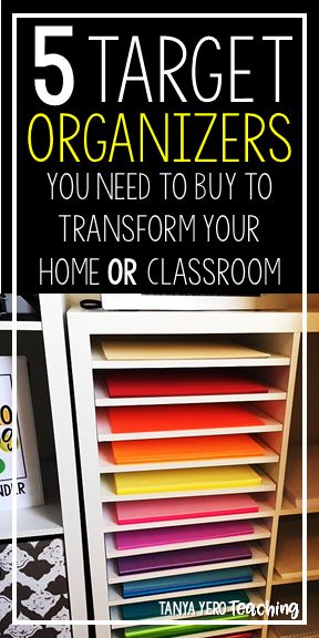 If you are in need of some organization tips then check out this post!  You'll find five organizers you didn't know you could use to transform your home or classroom. From spice liners and fabric baskets, to clear organizers and plastic baskets, you'll find inspiration you didn't know you needed to keep all your task cards, games, and other items easy to find in your room. Great for getting your elementary, middle, or high school classroom ready for a new school year.