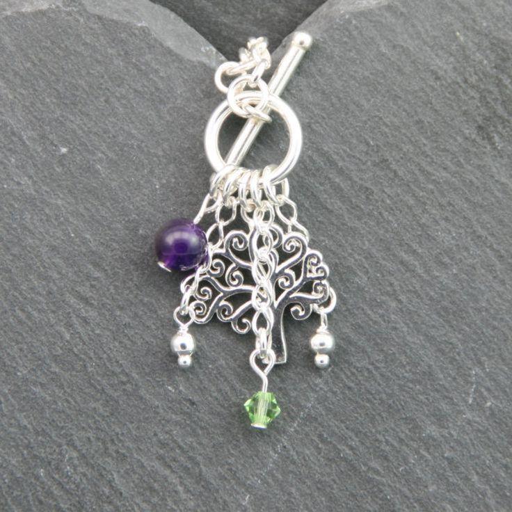 Tree of Life Bracelet, Mystical Protection, August Birthstone, Gemstone Bracelet, Turquoise Bracelet, Amethyst Bracelet, Moonstone Bracelet by MystiqueBlueJewelry on Etsy