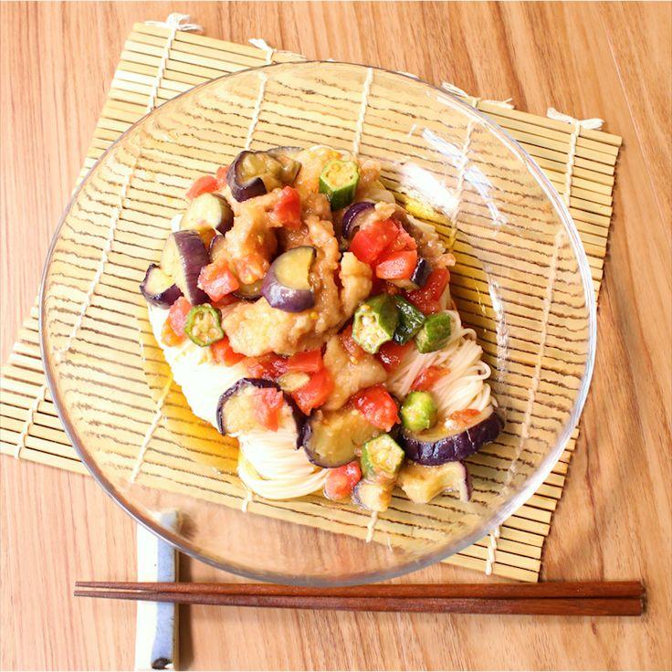 さっぱりコク旨 揚げ出しのっけ麺   料理動画(レシピ動画)のkurashiru [クラシル]