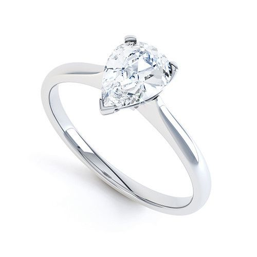 Solitaire Diamond Engagement Ring, #diamonds #platinum #trilogy #hattongarden #bespoke #custom #diamondpalace #GIA #IGI #Certificated #18k #Vintage #pear #engagement #forevermark Submit your enquiry to sales@diamondpalacejewellers.com www.diamondpalace.co.uk