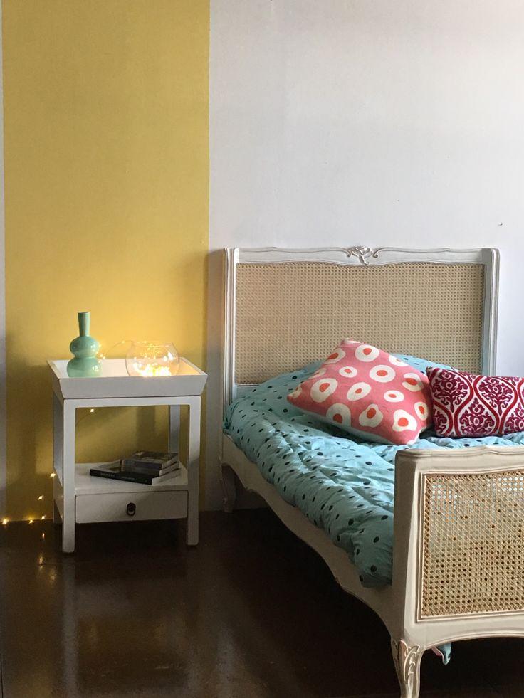 cama rosa enjuncada