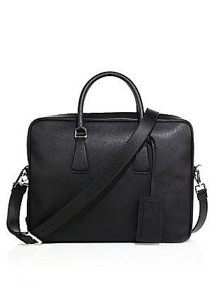 Prada Borsa Da Lavoro Leather Briefcase - Black - Size No Size