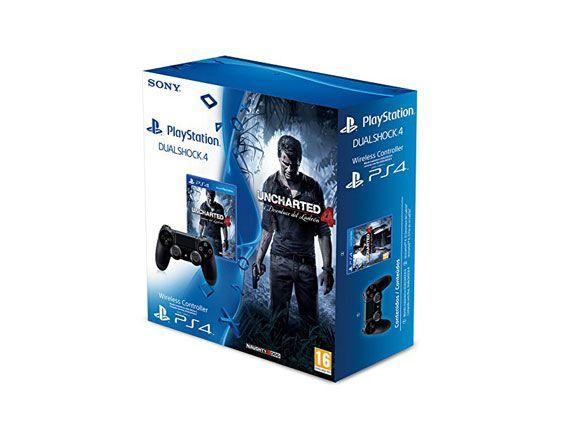Pack mando PS4 + el juego Uncharted 4 de Playstation 4 a un precio de chollo, sólo 69,90 euros. Hazte con este pack de la Play a un precio de oferta