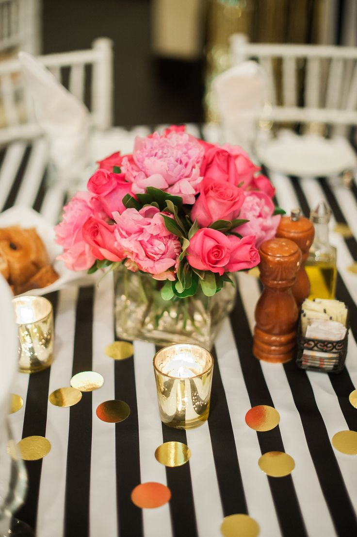 Kate Spade Bridal Shower Flower Arrangments Fancy Things