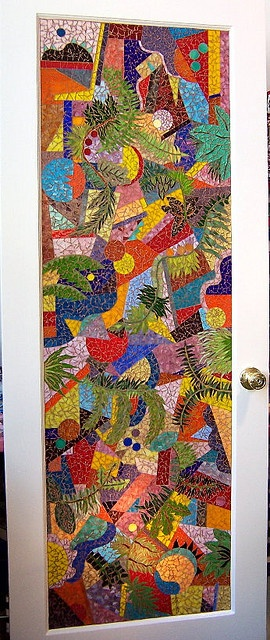 beautiful mosaic door