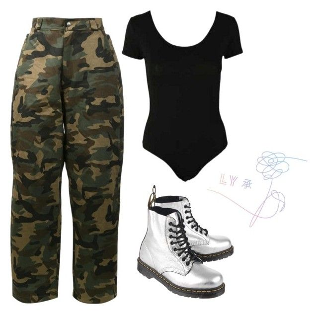 """""""ARMY outfit"""" by theo-janickova on Polyvore featuring Hood by Air and Dr. Martens"""