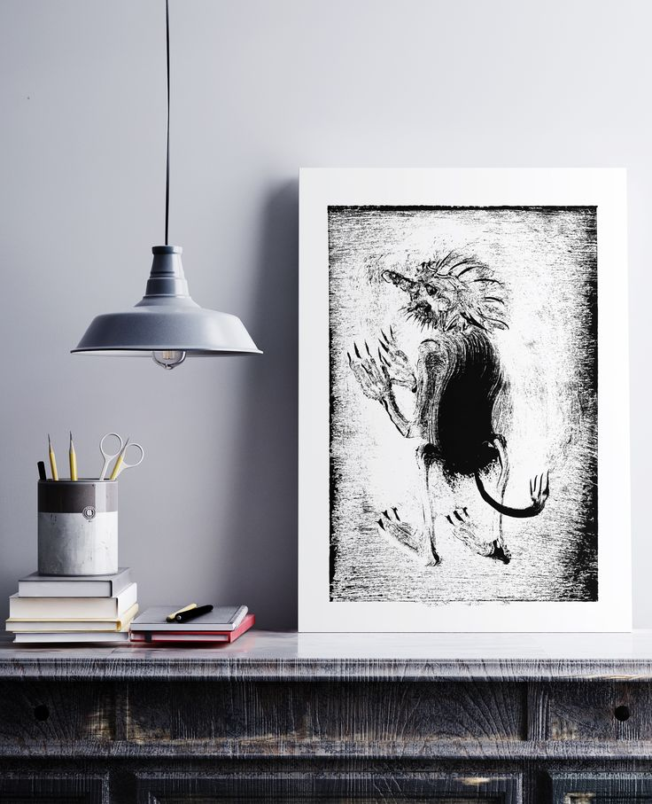 created by Konik Art Studio https://konikstudio.jimdo.com/  #etsy #Irishart #konikartstudio  #artprint  #blackandwhiteprints #folklore #fairytales #printmaking  #print  #graphicartist