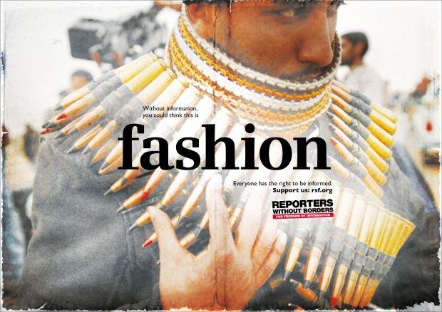 """""""fashion"""" Reporter ohne Grenzen, McCann Erickson"""