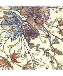 Floral Print Italian Paper with Golden Highlights ~ Leonardo Communication
